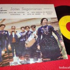 Discos de vinilo: SERAFIN VAQUERIZO DULZAINA & MANUEL CASLA TAMBORILERO JOTAS SEGOVIANAS EP 7'' 1961 IBEROFON SEGOVIA. Lote 262920660