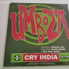 "Discos de vinilo: UMBOZA - CRY INDIA (12"", SINGLE). Lote 262922235"