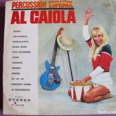 Discos de vinilo: LP - AL CAIOLA - PERCUSSION ESPAÑOL (SPAIN, TIME RECORDS 1964. Lote 289887148