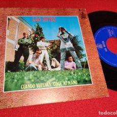 Discos de vinilo: LOS MITOS CUANDO VUELVAS/COGE MI MANO 7'' SINGLE 1968 HISPAVOX. Lote 262928140