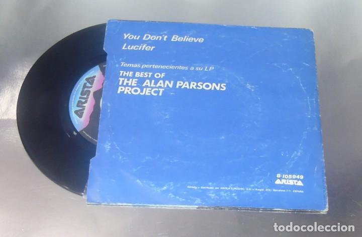 Discos de vinilo: THE ALAN PARSONS PROJECT ---- YOU DON´T BELIEVE & LUCIFER ---- VINILO MINT ( M ) FUNDA VG + - Foto 2 - 262929565