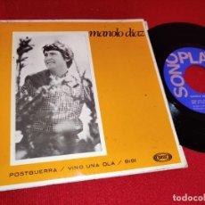Discos de vinilo: MANOLO DIAZ POSTGUERRA/VINO UNA OLA/BIBI 7'' EP 1967 SONOPLAY GATEFOLD. Lote 262930830