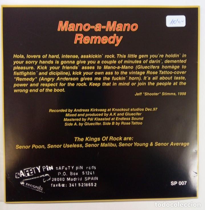 Discos de vinilo: GLUECIFER -MANO-A-MANO -REMEDY - Foto 2 - 262930955