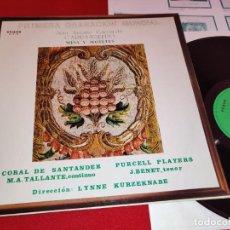 Discos de vinilo: JUAN ANTONIO GARCIA DE CARRASQUEDO MISA Y MOTETES PURCELL PLAYERS SANTANDER LP 1982 ETNOS EX. Lote 262933085