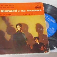 Discos de vinilo: CLIFF RICHARD ----- THINKING OF OUR LOVE + 3 ------AÑO 1961 -----VINILO ( VG + ) FUNDA ( VG ). Lote 262933435
