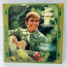 Discos de vinilo: LP - VINILO JOHN DENVER - RHYMES & REASONS - ESPAÑA - AÑO 1975. Lote 262934375