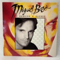 Discos de vinilo: LP - VINILO MIGUEL BOSÉ - DE BANDIDO A DUENDE + ENCARTE - ESPAÑA - AÑO 1988. Lote 262935930