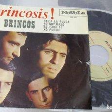 Discos de vinilo: LOS BRINCOS ---BAILA LA PULGA & NO SOY MALO & ES PARA TI & NO PUEDO --VINILO/ FUNDA VG+. Lote 262936280