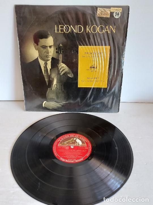 LEONID KOGAN / PROKOFIEFF / MOZART / LA VOZ DE SU AMO-1959 / MBC. ***/*** (Música - Discos - LP Vinilo - Clásica, Ópera, Zarzuela y Marchas)