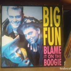 Discos de vinilo: BIG FUN ‎– BLAME IT ON THE BOOGIE MAXI SINGLE SPAIN 1989. Lote 262950865