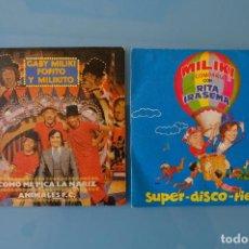 Discos de vinilo: GABY MILIKI FOFITO Y MILIKITO: COMO ME PICA LA NARIZ. ANIMALES F.C. + MILIKI Y COMPAÑIA. SUPER DISCO. Lote 262951055