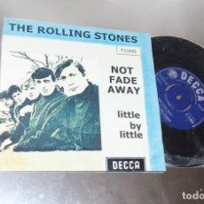 Discos de vinilo: THE ROLLING STONES -- NOT FADE AWAY & LITTLE BY LITTLE---- U.K. 1964 ---NEAR MINT M. Lote 262951480
