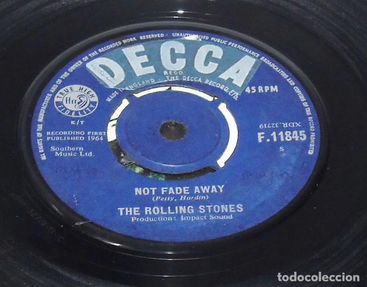 Discos de vinilo: THE ROLLING STONES -- NOT FADE AWAY & LITTLE BY LITTLE---- U.K. 1964 ---NEAR MINT M - Foto 3 - 262951480