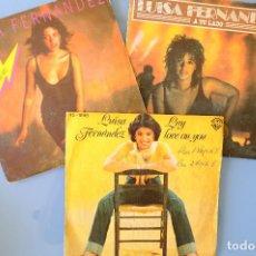 Discos de vinilo: LUISA FERNANDEZ: A TU LADO + TOMAME + LAY-LOVE ON YOU. SINGLE VINILO. Lote 262953570