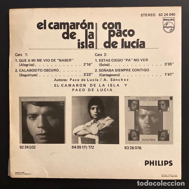 Discos de vinilo: EL CAMARÓN DE LA ISLA Y PACO DE LUCÍA - Foto 2 - 262968235