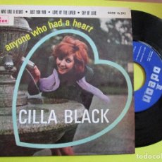 Discos de vinilo: CILLA BLACK AYONE WHO HAD A HEART + LOVE OF THE LOVED + JUST FOR YOU + SHY OF LOVE. Lote 262968450