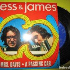 Discos de vinilo: JESS & JAMES MRS. DAVIS + A PASSING CAR. Lote 262969175