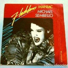 Discos de vinilo: MICHAEL SEMBELLO (SINGLE BSO 1983) FILM FLASHDANCE - MANIAC VOCAL - MANIAC INSTRUMENTAL. Lote 262973535