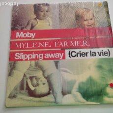 """Discos de vinilo: MOBY, MYLENE FARMER - SLIPPING AWAY (CRIER LA VIE) (12"""", MAXI). Lote 262973725"""