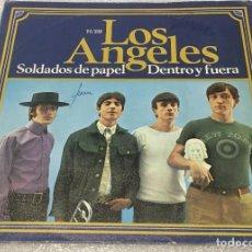 Disques de vinyle: SINGLE LOS ANGELES - SOLDADOS DE PAPEL - DENTRO Y FUERA - HISPAVOX H191 -PEDIDO MINIMO 7€. Lote 262976315