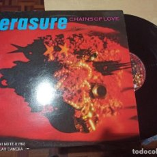 Discos de vinilo: ERASURE - CHAINS OF LOVE - MAXI UK MUTE 88 SYNTH POP. Lote 262976690