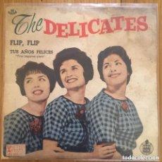 Discos de vinilo: PORTADA THE DELICATES FLIP FLIP (OJO SIN DISCO, SOLO PORTADA DE ESTE RARO DISCO). Lote 262981125