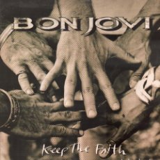 Dischi in vinile: BON JOVI - KEEP THE FAITH / LP MERCURY DE 1992 / BUEN ESTADO RF-9581. Lote 262984135