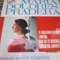 Discos de vinilo: MARIA DOLORES PRADERA - EL ROSARIO DE MI MADRE EP - ORIGINAL ESPAÑOL - ZAFIRO 1965 - MONOAURAL -. Lote 262991625
