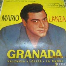 Discos de vinilo: MARIO LANZA - GRANADA EP - ORIGINAL ESPAÑOL - RCA RECORDS 1958 MONOAURAL. Lote 263005415