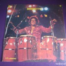 Disques de vinyle: RAY BARRETTO – BARRETTO - LP FANIA 1975 EDICION ORIGINAL USA SIN APENAS USO - LATIN SALSA CONGAS. Lote 263006325