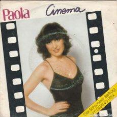 Discos de vinilo: 45 GIRI PAOLA CINEMA DER SCHWEIZER BEITRAG ZUM GRAND PRIX 1980 CBS LATO B RING WEAR G. Lote 263009090