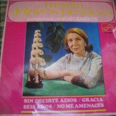 Discos de vinilo: MARIA DOLORES PRADERA - SIN DECIRTE ADIOS EP - ORIGINAL ESPAÑOL - ZAFIRO 1969 - MONOAURAL. Lote 263011205