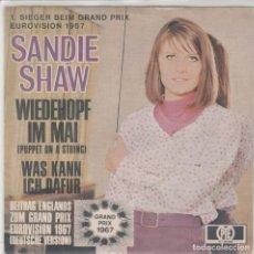 Discos de vinilo: 45 GIRI SANDIE SHAW WIEDEHOPEF IM MAI (PUPPET ON A STRING) GRAND PRIX ENGLAND 1967 PYE GERMANY. Lote 263019585