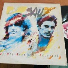 Discos de vinilo: SAU (EL MES GRAN DELS PECADORS) 2 X LP 1991 CON INSERTO (B-29). Lote 263031190