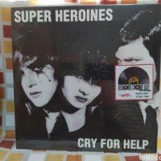 Discos de vinilo: SUPER HEROINES–CRY FOR HELP. LP VINILO PRECINTADO EDICION LIMITADA. 361/500. Lote 263048085