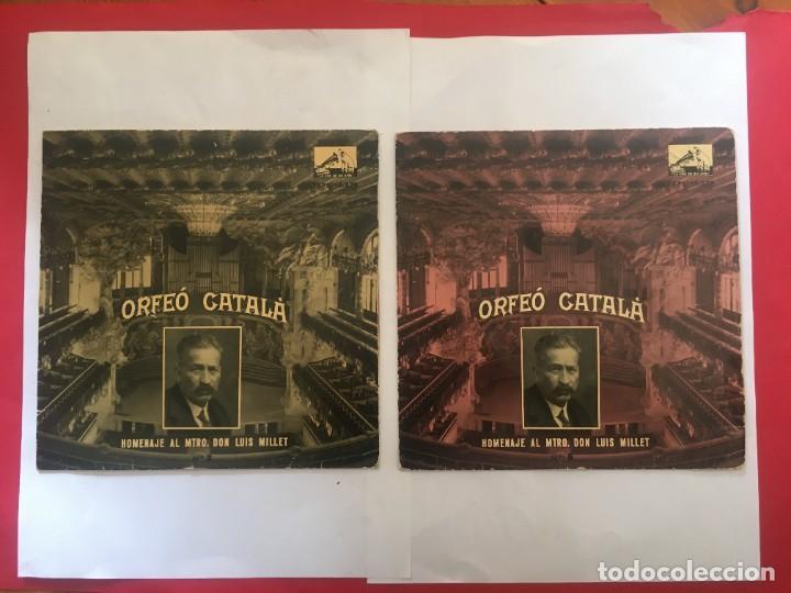 DISCO SINGLE ORFEO CATALA HOMENAJE LLUIS MILLET Nº 2 Nº 6 - L'EMIGRANT -LA MORT DE L'ESCOLA -LA BAL (Música - Discos de Vinilo - Maxi Singles - Otros estilos)