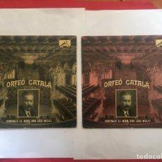 Discos de vinilo: DISCO SINGLE ORFEO CATALA HOMENAJE LLUIS MILLET Nº 2 Nº 6 - L'EMIGRANT -LA MORT DE L'ESCOLA -LA BAL. Lote 189282578