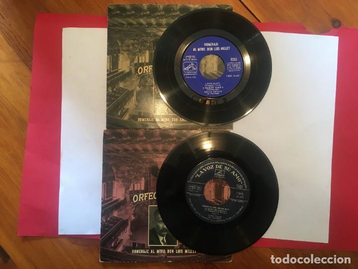 Discos de vinilo: disco single orfeo catala homenaje lluis millet nº 2 nº 6 - lemigrant -la mort de lescola -la bal - Foto 3 - 189282578