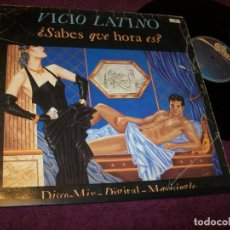 Discos de vinilo: VICIO LATINO - SABES QUE HORA ES + HORARIO DISCO .. MAXISINGLE DE 1984 - DISCO - MIX -DIGITAL. Lote 263050115