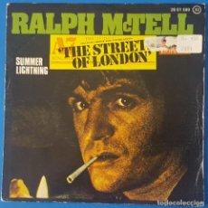 Discos de vinilo: SINGLE / RALPH MCTELL - THE STREETS OF LONDON, 1975. Lote 263052050