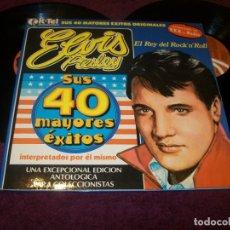Discos de vinilo: ELVIS PRESLEY - SUS 40 MAYORES EXITOS ..2LP´S - K-TEL 1977 - ED. ESPAÑOLA ..TEMAS EN MONO Y STEREO. Lote 263058210