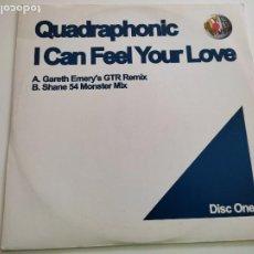 "Discos de vinilo: QUADRAPHONIC - I CAN FEEL YOUR LOVE (12"", DIS). Lote 263058485"