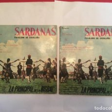 Discos de vinilo: DISCO SINGLE COBLA ORQUESTA LA PRINCIPAL DE LA BISBAL Nº 1 Nº 4 LOTE 2 FOLKLORE DE CATALUÑA SARDANAS. Lote 263060525