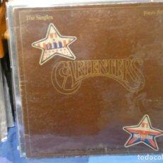 Discos de vinilo: DESDE UN EURO A TU RIESGO LP THE CARPENTERS SINGLES 1969-73 MUCHA TRALLA RALLAS NO SENTIBLES DEDO. Lote 263064050