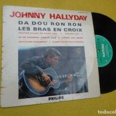 """Discos de vinilo: LP 10"""" JOHNNY HALLYDAY - DA DOU RON RON - LES BRAS EN CROIX - FRANCE - P 76.576 R (VG+/VG). Lote 263066505"""