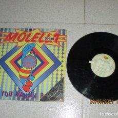 Discos de vinilo: MOLELLA - IF YOU WANNA PARTY - MAXI - SPAIN - MAX MUSIC - REF NM 1220 MX - LV -. Lote 263066605