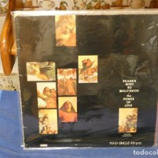 Discos de vinilo: MAXISINGLE FRANKIE GOES TO HOLLYWOOD THE POWER OF LOVE ESTADO ACEPTABLE CON CIERTO USO. Lote 263066650