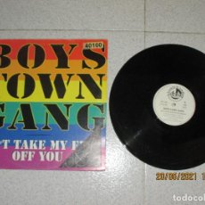 Discos de vinilo: BOYS TOWN GANG - CAN´T TAKE MY EYES OF YOU - MAXI - SPAIN - BLANCO Y NEGRO - LV -. Lote 263066935