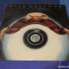 Discos de vinilo: LP ROCK PROGRESIVO RICK WAKEMAN NO EARTHLY CONNECTION CANADA 76 TAPA BIEN VINILO MUY BIEN. Lote 263066960