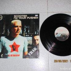 Discos de vinilo: SCOOTER - I´M YOUR PUSHER - MAXI - GERMANY - SHEFFIELD TUNES - REF 0110500STU - PLS 315 - L -. Lote 263067930